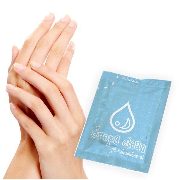 sobres para gel antibacterial